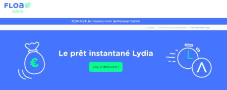 pret instantané Lydia