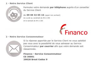 service client Financo