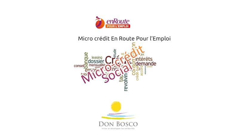 Micro crédit En Route Pour l'Emploi