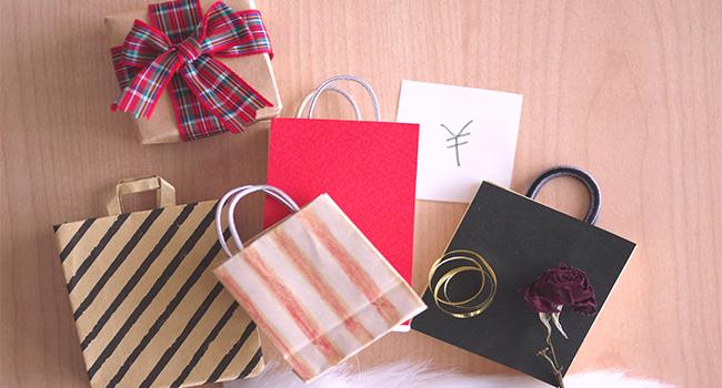 いろいろなショッピングの紙袋や箱