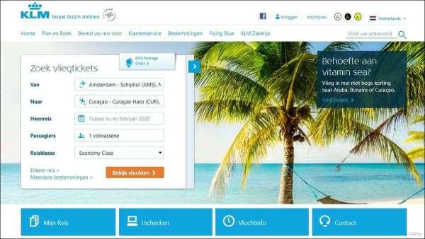 betalen bij KLM met American Expess
