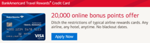 Bank of America Travel Rewards sign-up bonus