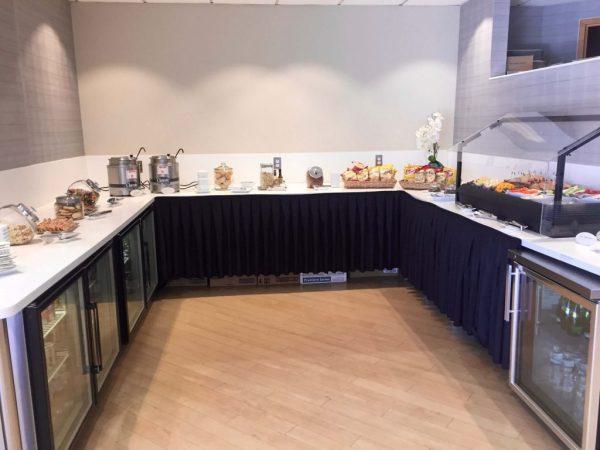 Food selection at the Lounge at Boston Logan Airport