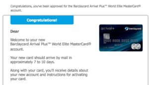 Barclaycard Arrival Plus Approval