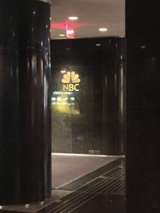 NBC sign at 30 Rock