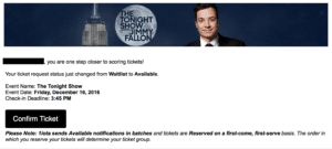 Tonight Show email