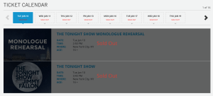 Tonight Show Sold Out