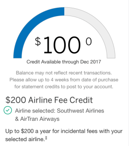 American Express Travel Credit Tracker