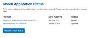 Barclaycard Application Status