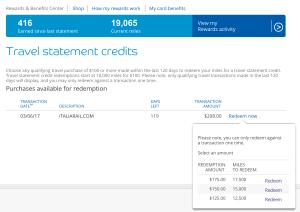 Barclaycard Arrival Plus redemption