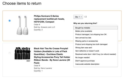 Amazon return process