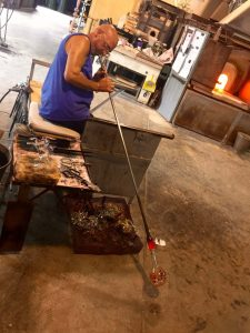 Glass blower in Murano