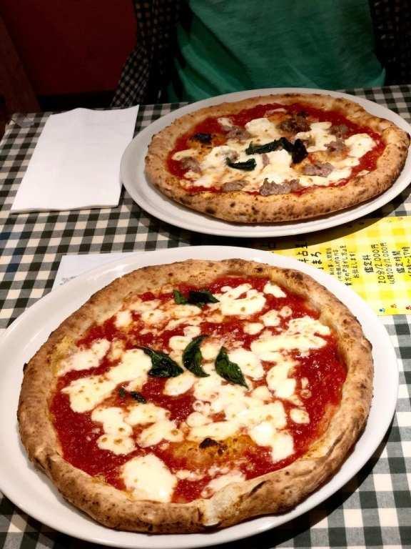 Food at Pizzeria Da Naghino in Kyoto