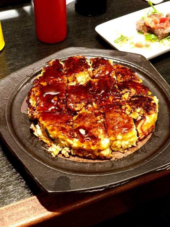 Okonomiyaki at Teppanyaki Manryu