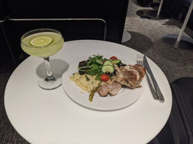 Food at AMEX Centurion Lounge DFW Airport