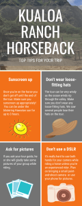 Kualoa Ranch Horseback Riding Tips Infographic