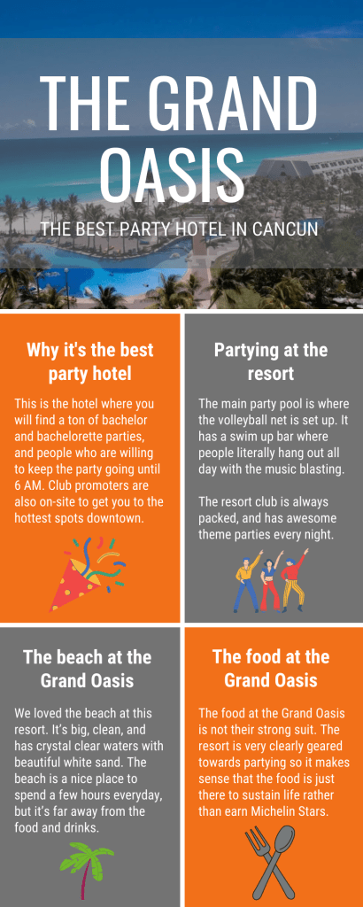 The Best Party Hotel in Cancun Infographic