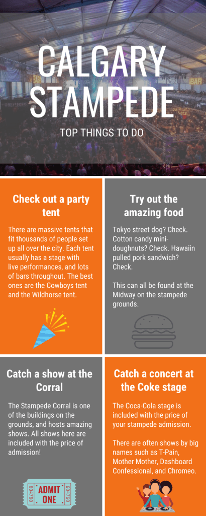 Top Things to do at the Calgary Stampede Infographic