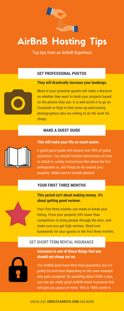 AirBnB Hosting Tips Infographic