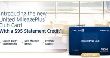 United Mileage Plus Club Card