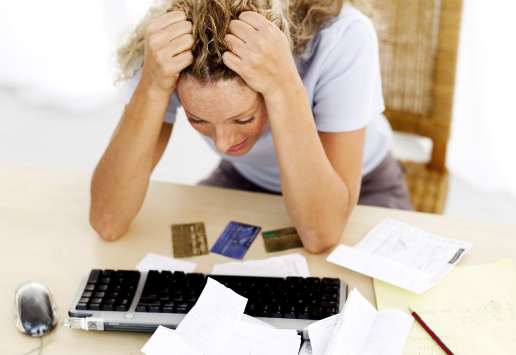 Woman Stressed Over a Bill Payment Missed