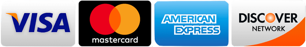 Credit Card Application Logos Visa, MasterCard, American Express, Discover