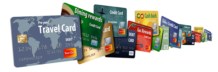 There are different types of reward credit cards - cash back, travel, dining, gas