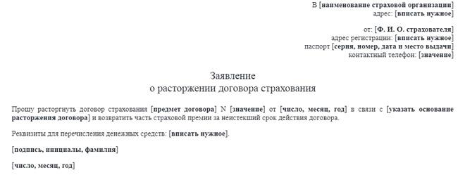 Заявление на кредит и договор