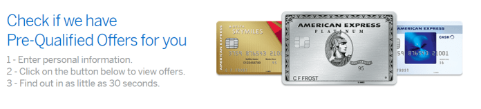 American Express Pre-qualified Offers