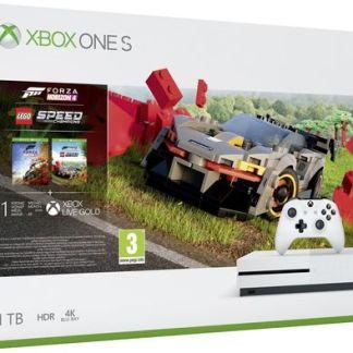 Consola Microsoft Xbox One S 1TB + Forza Horizon 4 + LEGO DLC (Alb)