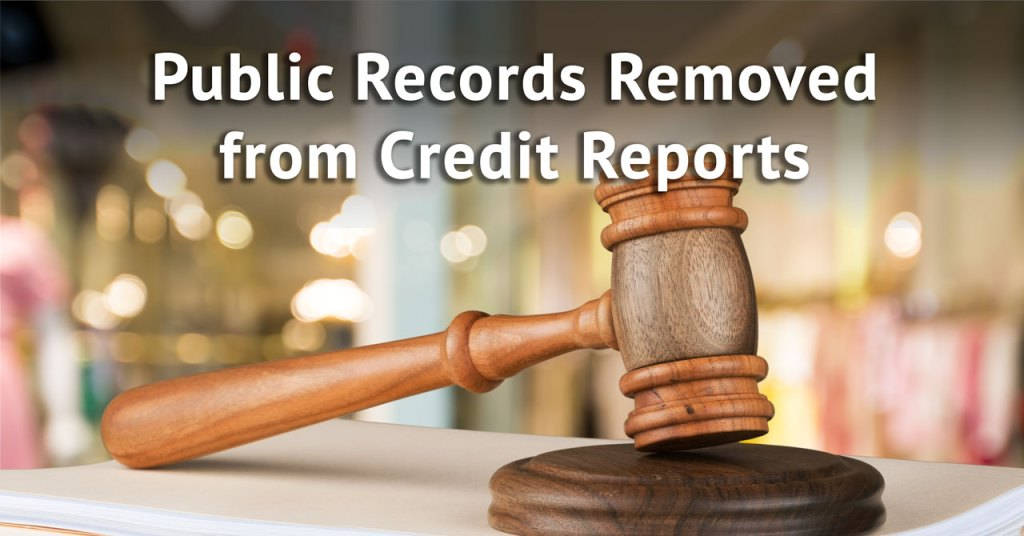 New law changes how public records are reported to credit bureaus.