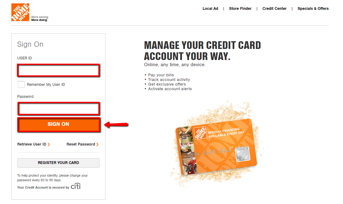 How to apply for home depot credit card. Home Depot Credit Card Login   Make a Payment - CreditSpot
