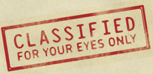 Classified - For Your Eyes Only