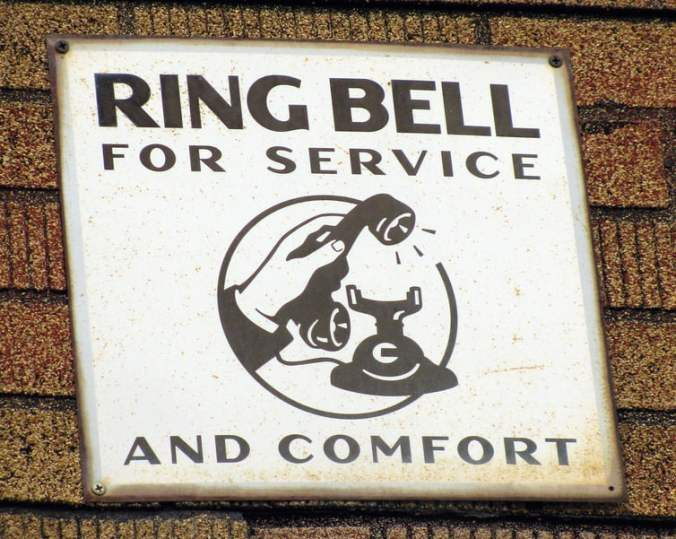 Ring Bell for Service and Comfort