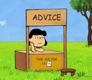 Lucy's Advice Booth - Peanuts