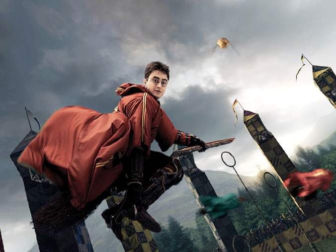 Harry Potter Playing Quiddich