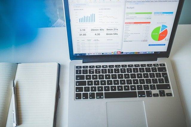 Laptop with Website Analytics