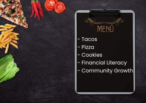 Menu Clipboard with Food