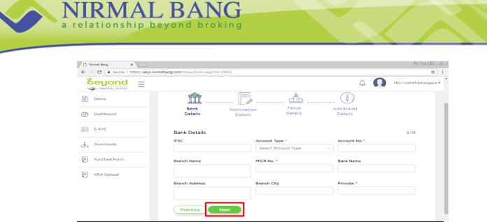Nirmal Bang Demat Account Opening Process Step-5