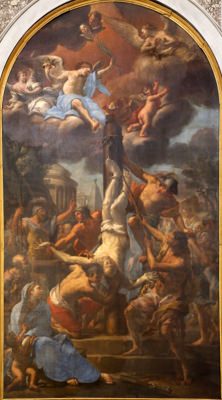 The Apostle Peter Martyred by Crucifixion Upside Down