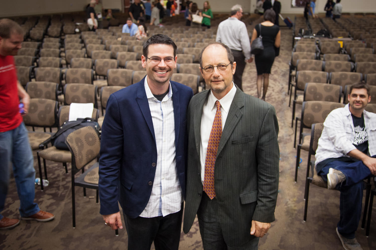 Justin Bass and Bart Ehrman Smiling Together