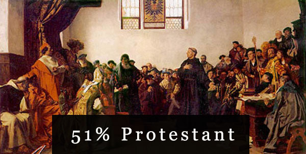 51% Protestant