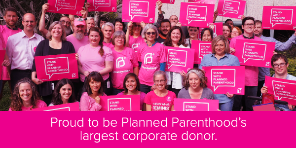 CREDO staff stands with Planned Parenthood