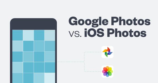 Graphic: Google Photos v iOS 10