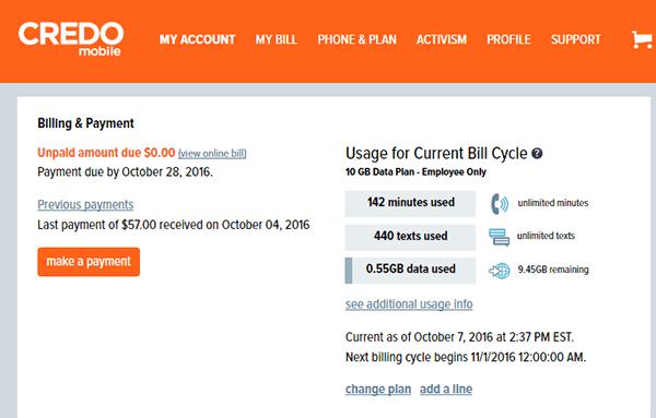 Screencap of Member Services dashboard