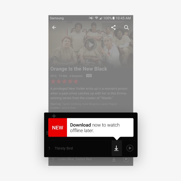 Reduce your mobile data usage with Netflix's new download