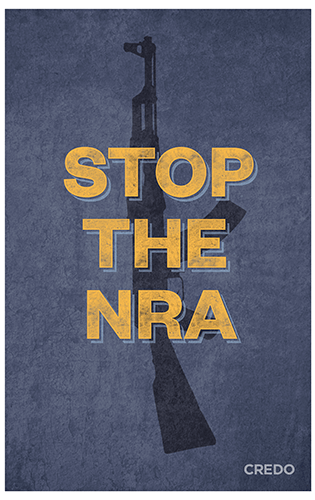 March for Our Lives protest poster – stop the NRA