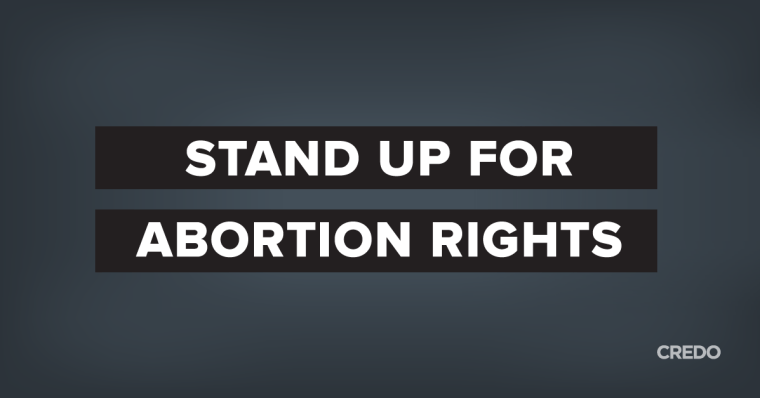 "Dark grey background with text ""Stand Up for Abortion Rights"" for the Roe v. Wade anniversary"