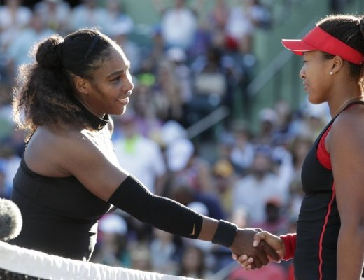 Serena Williams loses 6-3, 6-2 in 1st round at Miami Open to Osaka