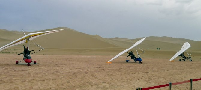 Trekking the Gobi Desert on Buses, Horses, Hang-gliders, Camels and Vans:  Asia – China – Day 13